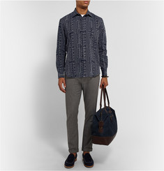 Billy Reid Embroidered Linen-Blend Shirt