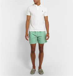 Polo Ralph Lauren Striped Cotton-Blend Swim Shorts
