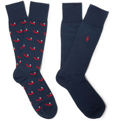 Polo Ralph Lauren Two-Pack Cotton-Blend Socks