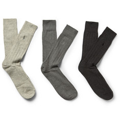 Polo Ralph Lauren Three-Pack Cotton-Blend Socks