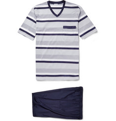 Zimmerli Striped Cotton-Jersey Pyjama Set