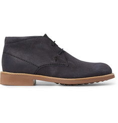 Tod's Rubber-Soled Suede Chukka Boots