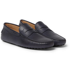 Tod's Gommino Pebble-Grain Leather Loafers