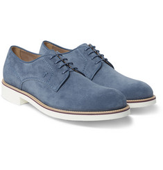 Tod's Rubber-Soled Suede Derby Shoes
