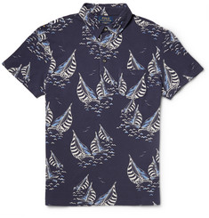 Polo Ralph Lauren Slim-Fit Printed Cotton-Piqué Polo Shirt