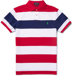 Polo Ralph Lauren Striped Cotton-Piqué Polo Shirt
