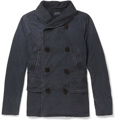 Polo Ralph Lauren Unstructured Washed-Cotton Double-Breasted Jacket