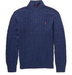 Polo Ralph Lauren Cable-Knit Silk Sweater