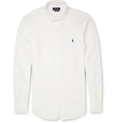 Polo Ralph Lauren Button-Down Collar Slim-Fit Linen Shirt