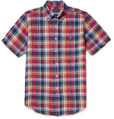 Polo Ralph Lauren Slim-Fit Checked Linen Shirt