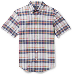 Polo Ralph Lauren Slim-Fit Checked Cotton Short-Sleeved Shirt