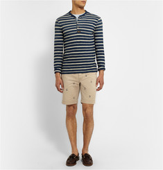 Polo Ralph Lauren Slim-Fit Anchor-Embroidered Cotton Shorts
