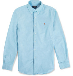 Polo Ralph Lauren Slim-Fit Button-Down Collar Cotton-Blend Oxford Shirt