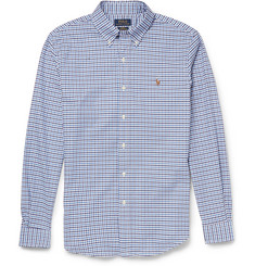 Polo Ralph Lauren Slim-Fit Gingham-Check Cotton-Blend Shirt