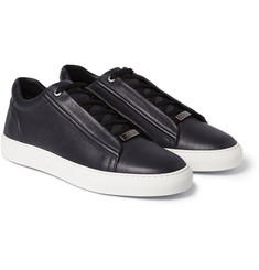 Brioni Leather Low Top Sneakers