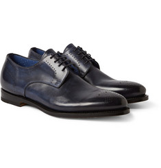 Santoni Wlson Leather Derby Shoes