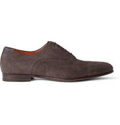 Santoni Wilson Suede Oxford Shoes