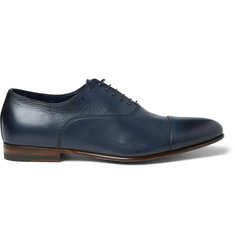 Santoni Wilson Leather Oxford Shoes
