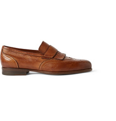 Santoni Aliseo Wingtip Leather Loafers