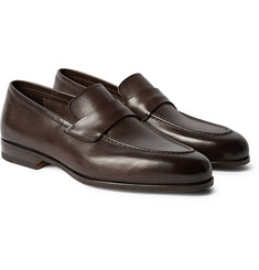 Santoni Aliseo Washed Leather Loafers
