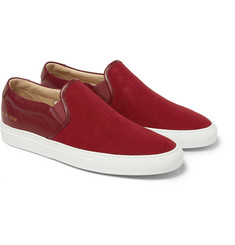 Common Projects Canvas and Leather Slip-On Sneakers