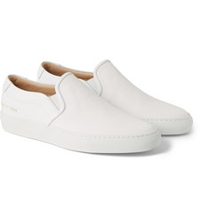 Common Projects Leather and Canvas Slip-On Sneakers