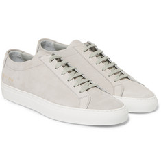 Common Projects Achilles Nubuck Low Top Sneakers