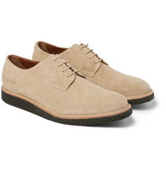 Common Projects Crepe-Sole Suede Derby Shoes