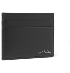 Paul Smith Shoes & Accessories Petrol-Effect Leather Cardholder