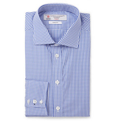 Turnbull & Asser Blue Gingham Check Cotton Shirt