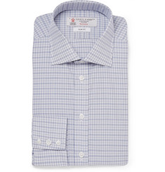 Turnbull & Asser Blue Checked Cotton Shirt