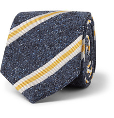 Turnbull & Asser Striped Slubbed Silk Tie