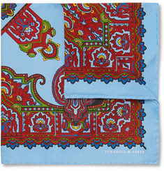 Turnbull & Asser Paisley-Print Silk Pocket Square