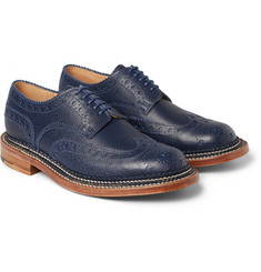 Grenson Archie Triple-Welt Grained-Leather Wingtip Brogues