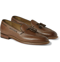 Grenson Scott Tasselled Country-Grain Leather Loafers