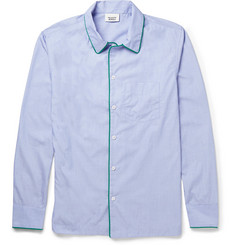 Sleepy Jones Henry Piped Cotton Pyjama Shirt