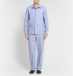 Sleepy Jones Marcel Piped Cotton Pyjama Trousers