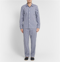 Sleepy Jones Henry Gingham-Check Cotton Pyjama Shirt