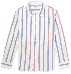 Sleepy Jones Regimental Striped Cotton Pyjama Shirt