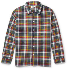 Sleepy Jones Plaid Cotton-Flannel Pyjama Shirt