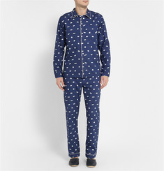 Sleepy Jones Marcel Sleeping Pill-Printed Cotton Pyjama Trousers