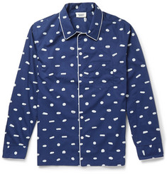 Sleepy Jones Henry Sleeping Pill-Printed Cotton Pyjama Shirt