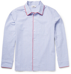 Sleepy Jones Henry Striped Cotton-Seersucker Pyjama Shirt