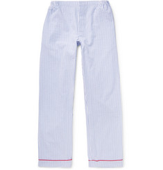 Sleepy Jones Marcel Striped Cotton-Seersucker Pyjama Trousers