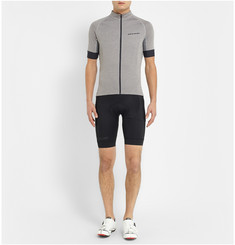 Cafe du Cycliste Lucienne Striped Stretch and Mesh Cycling Jersey