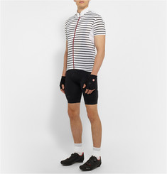 Cafe du Cycliste Suzanne Striped Stretch and Mesh Cycling Jersey