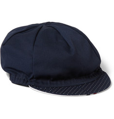 Cafe du Cycliste Pin-Dot Print Cycling Cap