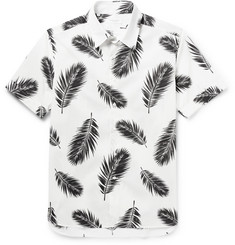 Ovadia & Sons Feather-Print Cotton-Poplin Shirt