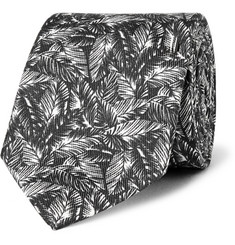 Ovadia & Sons Palm-Print Silk Tie