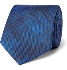 Ovadia & Sons Checked Silk-Twill Tie